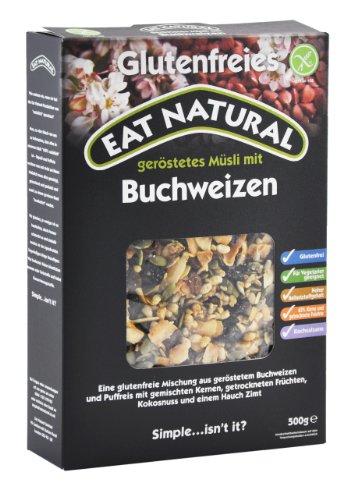Eat Natural Müsli mit Buchweizen, 3er Pack (3 x 500 g)