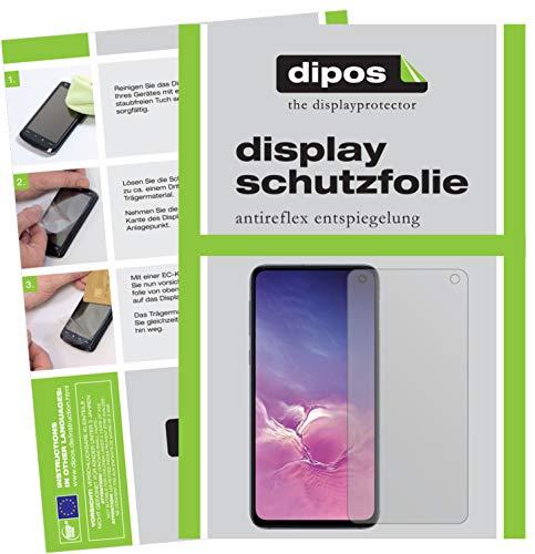 dipos I 6X Schutzfolie matt passend für Samsung Galaxy S10e Folie Bildschirmschutzfolie (3X Vorderseite + 3X Rückseite)