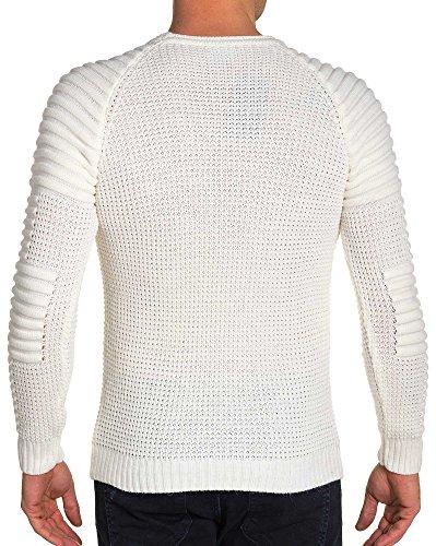 BLZ jeans - Grobstrick-Pullover Rundhals Creme Mann --