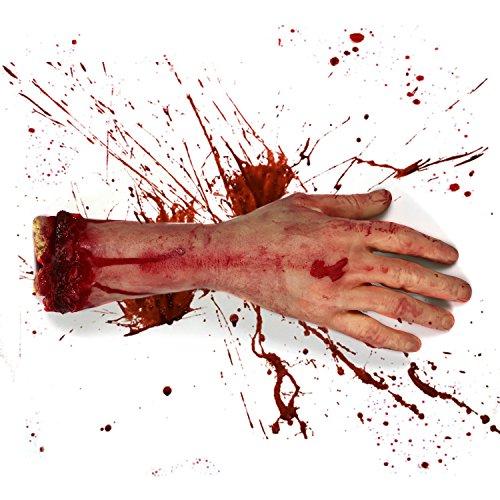 EPCTEK Realistische Latex Gory Mensch Arm Hand Leben Größe Scary Bloody Blut Körperteile für Halloween Party Indoor Outdoor Prop und Cosplay Dekor