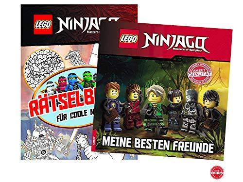 AMEET Lego® Ninjago®. Meine besten Freunde (Gebundenes Buch) + Rätselblock für Coole Ninja