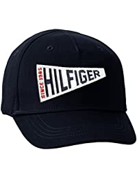 Tommy Hilfiger S Badge Cap, Gorra para Niñas, Azul (Navy Blazer), 92 (Talla del Fabricante: Small)