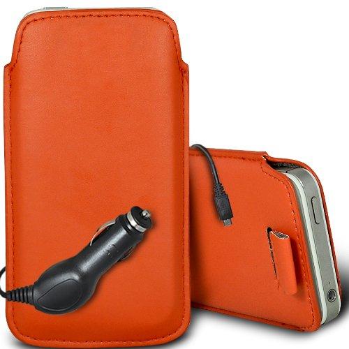 Vert/Green - Samsung Galaxy S4 mini plus I9195I Housse deuxième peau et étui de protection en cuir PU de qualité supérieure à cordon et écouteurs intra-auriculaires de 3,5 mm assortis par Gadget Giant Orange & Car Charger