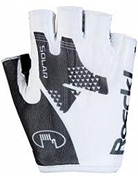 Roeckl Izeda verano guantes de bicicleta dedos cortos blanco/ negro, Color:blanco/ negro;tamaño:9 1/2