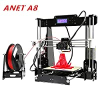 ANET A8 3D Printer Support ABS PLA HIPS Dual Color print Large Print Size 220 * 220 * 240mm