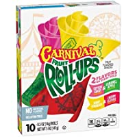 Betty Crocker Fruit Roll Up Carnival 2 Flavours on Every Roll (Cotton Candy & Caramel Apple, Berry Lemonade & Cherry Slushie Fruit Flavoured Snack, 141g