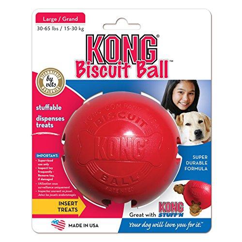 Kong Kong-Ball 15500, 10 cm rot (Kong Ball Hundespielzeug)