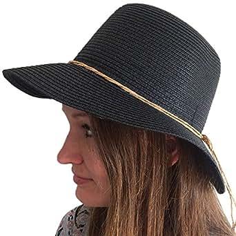toskatok 174 womens crushable straw sun hat black
