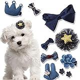 10PCS/set Hund Haar Clips klein Schleife Haustierpflege Produkte Mix Farben variiert Muster Pet Hair Bögen Dog Accessories by hongtian