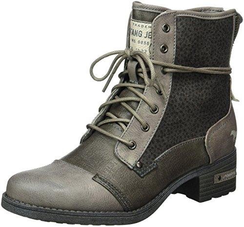 Mustang Damen 1229-504-230 Combat Boots Grau (230 Grau/dunkelgrau)