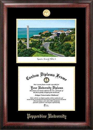 Campus Images CA944LGED Pepperdine University Diplom-Bilderrahmen, geprägt, mit Lithographie-Druck, 21,6 x 27,9 cm, goldfarben Pepperdine University