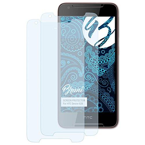 Bruni Schutzfolie für HTC Desire 628 Folie, glasklare Bildschirmschutzfolie (2X)