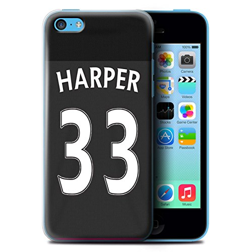 Offiziell Sunderland AFC Hülle / Case für Apple iPhone 5C / Pack 24pcs Muster / SAFC Trikot Away 15/16 Kollektion Harper