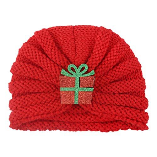SUCES Weihnachten Mütze Strickmütz Für Baby Mädchen Jungen Neugeborenes Winter Warm Hüte Beanie Cap Gestrickter Turban Hut Headwear-Kappe Christmas Winterhüte Babymütze