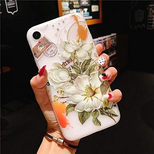 MEISHAON Handy-Fälle Lotus Blume Telefon case für iPhone xr case für iPhone XS max 5 5 s se 6 6 s 7 8 Plus rückseitige Abdeckung 3D floral Cases (Lotus-blume Iphone 4 Case)