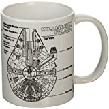 Star Wars Taza Millennium Falcon Sketch