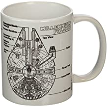 "Pyramid International ""Star Wars (Millennium Falcon Sketch)"" - Taza de café / té oficial de cerámica en caja, multicolor, 11 oz / 315 ml"