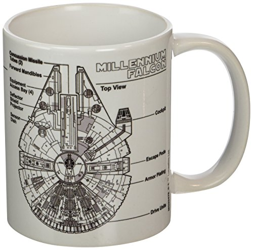 "Star Wars ""Millennium Falcon Sketch 11oz/315ml Kaffeetassen"
