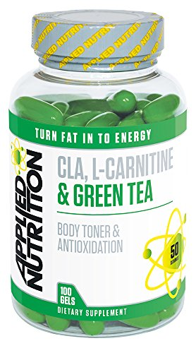 Applied Nutrition CLA L-Carnitine & Green Tea - 100 softgels Fat Burner