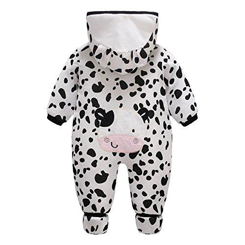Bambino Tute da neve Neonato Pagliaccetto con Cappuccio tuta invernale Intera Spot Cow/59