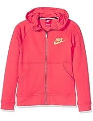 Nike G Nsw Mdrn Fz Gfx - Sudadera para niña, color naranja, talla L