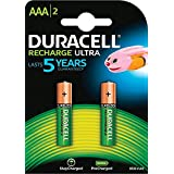 Duracell Ultra 5003447 AAA Rechargeable Batteries 900 mAh (Pack of 2, Green)