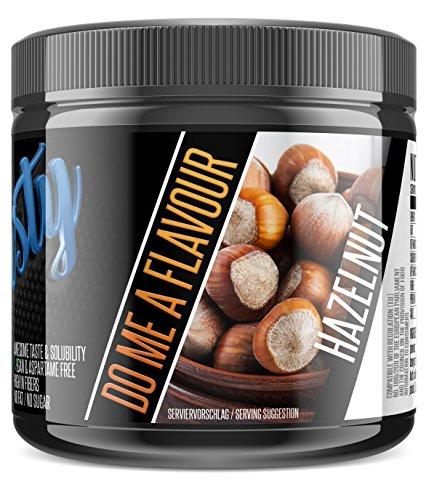 BlackLine 2.0 - Flasty\'s Geschmackspulver. Kalorienarmes Lebensmittelaroma. Flavor Pulver Aspartamfrei und Laktosefrei. 1 x 250g (Hazelnut)