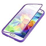 Flip cover Galaxy S5, JAMMYLIZARD Custodia full-body protezione totale in Silicone per Samsung Galaxy S5 e S5 Neo, VIOLA