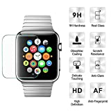 pour Apple Watch Series 3 38mm , Ecran Protection Flim en verre trempé 3D Incurvé Couverture Complète 9H Glass Screen Protector (38MM)