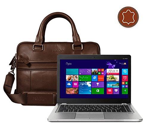 Laptop-Tasche in Braun Echt-Leder für HP Ultrabook 14 EliteBook Folio 9470M WA5 0889 Refurbished Laptop | Damen/Herren