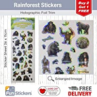 Fun Stickers Rainforest Monkeys & Gorillas 1028
