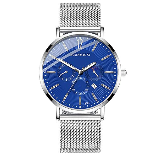 XZDCDJ Quartz Uhr Herren Digital Armbanduhr Mode herrenuhr Legierung Business Quarz Armbanduhr mesh Band I - Lace Mesh Band
