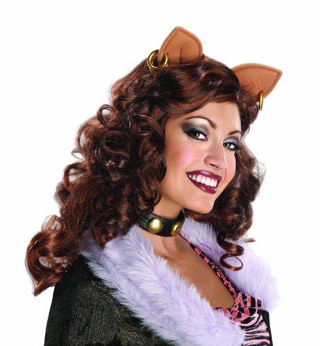 Monster High Damen Perücke Clawdeen Wolf Karneval Fasching Halloween