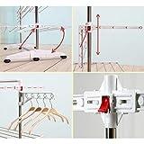 One Click Luxus Wäscheständer E3, Wäscheturm, Wäschespinne mit 3 Ebenen - 4