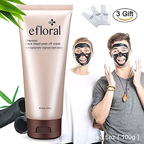 Masque Point Noir Black Head Masque Peel Off Face Masque Charcoal Remove Acne Visage Masque nettoyage Hamamelis Virginiana Leaf Extract Deep Cleaning