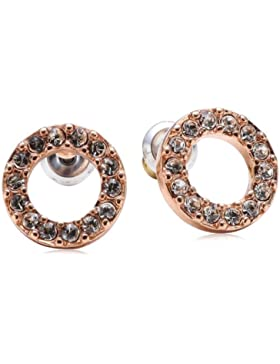 Pilgrim Jewelry Damen-Ohrstecker aus der Serie Classic roségold beschichtet weiß 1.0 cm 611314013