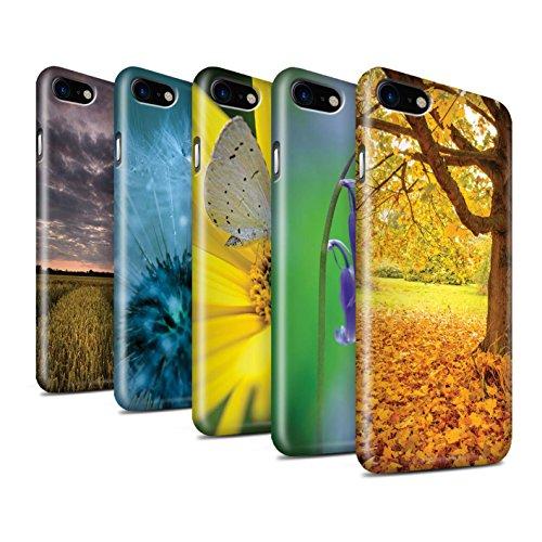 STUFF4 Glanz Snap-On Hülle / Case für Apple iPhone 8 / Sonnenuntergang Muster / Englische Gärten Kollektion Pack 10pcs
