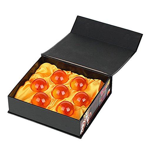 3.5CM Dragon Balle 7 Étoiles Boules de Cristal Boîte bonne cadeau de Noël/Action de Grâce