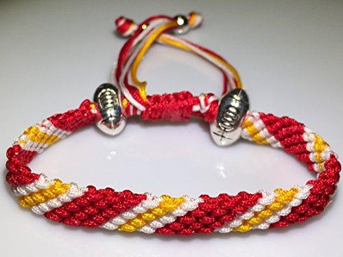 Mary 's Terrace Seilen armband in NFL Farben. Handmade auf Bestellung. Alle NFL-Farben erhältlich -