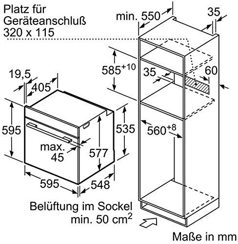 Bosch HNG6764B6 Serie 8 Backofen Elektro / A / 67 L / Vulkan Schwarz / Pyrolyse-Selbstreinigung / Mikrowellenfunktion / PerfectRoast & PerfectBake - 11