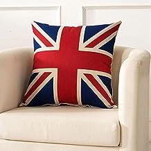SKL manta fundas de almohada 2unidades olímpico de Londres cuadrado bandera de Reino Unido Bandera británica Sherlock Holmes objetos de la película sofá fundas de almohada de funda de cojín (45cm * 45cm)