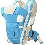 Chinmay kids Adjustable Hands-Free 4-in-1 (with Comfortable Head Support & Buckle Straps) Baby Carrier Baby Carrier (Dark Blue)