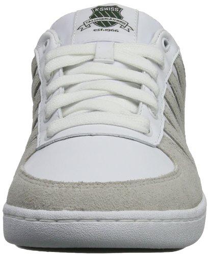K-Swiss TRANCAS 03171-168-M Herren Sneaker Weiß (White/Vapor/Forest)