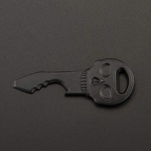 Minisu Tête de mort Décapsuleur, Halloween Pendentifs Porte-clés pour voiture Sac à main Porte-clés de sac cadeau (Noir)