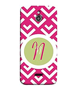 PrintVisa Designer Back Case Cover for Infocus M2 (nice pinkish background letter N)