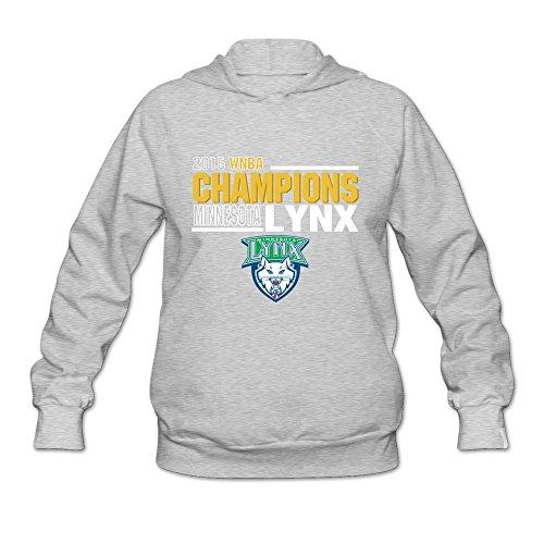 Keiko Damen Minnesota Lynx Hoodies, damen, asche (Asche T-shirt Volleyball)
