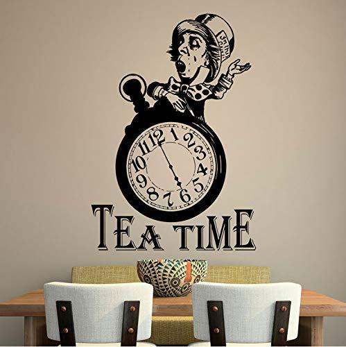 Alice im Wunderland Wandtattoo Zitat Tee Zeit Zitate Wandaufkleber Hutmacher Tea Party Aufkleber Tee Liebhaber Geschenk Dining Kitche 57 * 81 Cm