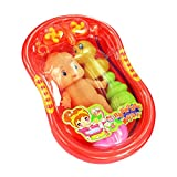 Imported Orange Plastic Bathtub with Bab...