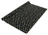 Sigel GP117 Weihnachts-Geschenkpapier schwarz/gold/silber, 1 Rolle 5m x 70 cm