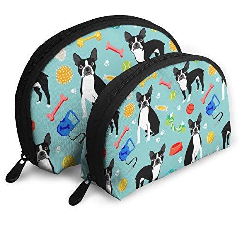 Boston Terrier Toys Dog Portable Reise-Kosmetiktaschen Organizer Set of 2 for Women Teens Girls -
